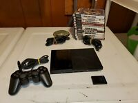 Sony Playstation 2 Slim PS2 (SCPH-79001) Console w/ Controller Cords & 13 Games