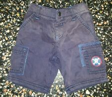 BABY BOYS Sz 000 blue & red TARGET cargo shorts CUTE! ELASTIC WAIST! PIRATE!
