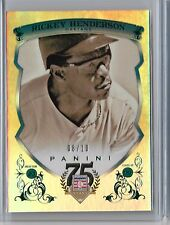 2014 Panini HOF 75th Anniversary Rickey Henderson Emerald SN# 08/10 Class of '09
