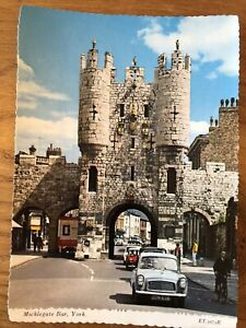 Micklegate Bar City Of York Uk Vintage Photo Postcard  Blank Unused