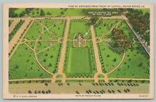Baton Rouge Louisiana~View Of Grounds From Capitol~1940s Linen Postcard