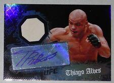 Thiago Alves Signed UFC 2010 Topps Main Event Relic Card #54 Autograph 100 85 90