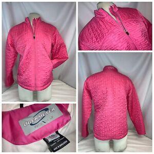 Obermeyer Ski Jacket Sz 10 Pink Quilted Nylon Weather X System Mint YGI J0-455