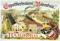 Exportbierbrauerei Bärenbräu Bier Bamberg Blechschild Schild Tin Sign 20 x 30 cm