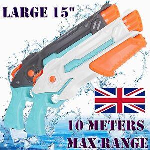 2 Large Water Gun Super Soaker Long Range 32FT Water Pistols Toys Kids Adults