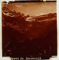 FRANCE Pyrénées Cirque de Gavarnie, Photo Stereo Plaque Verreca 1910