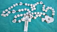 Medjugorje Unique St. Saint Benedict WALL ROSARY HANDMADE OF REAL STONES 41 inch