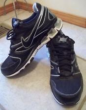 Nike Air Viturin Mens 375553-003 Black Silver Running Athletic Shoes Sz 8 Eur 41