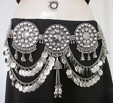 Tribal Belt Handcrafted Medallion Metal Coin Chain Belly Dance Costume Jewelry