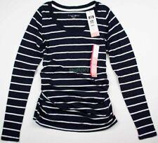 New NWT Maternity Clothes Blue Top Long Sleeve Shirt Liz Lange Size Sz XS