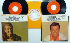 CLAUDE KING Lot of 3x45rpm singles COUNTRY on Columbia  CtLot79