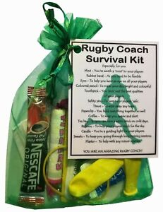 Rugby Coach Survival Kit Gift  - Great present for Christmas or just because.