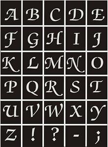 Großbuchstaben A-Z 2-30cm;Schrifttyp-ZackSwash Old;Schriftschablonen;Buchstaben