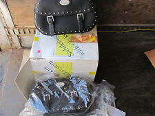 NOS Genuine leather Saddlebags Set Suzuki VL1500LC Intruder