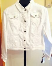 Earl Jean® Denim Jacket (Summer White) Stretch Bling Me Sz M-NWT'S MSRP $54