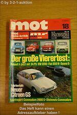 MOT 18/70 Citroen GS Opel Commodore Steinmetz VW