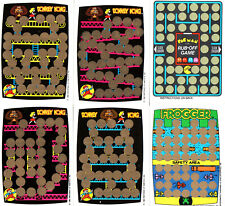 DONKEY KONG, Pac Man, Frogger 6x Rubbelkarten -  1982 Game&Watch Arcade (PD1)