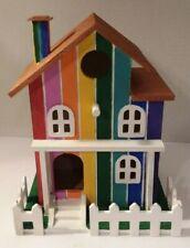 """Bird House by """"Alayna"""" Rainbow House 9 x 7 x 5"""