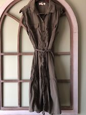 LOGG Button Down Casual Maxi Dress with Belt Size Women's 16