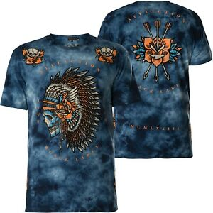 AFFLICTION T-Shirt Night Chief Blau T-Shirts