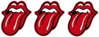 The Rolling Stones Lips Logo Patch [Lot of 3] Classic Rock Symbol Emblem Badge