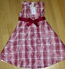 GIRLS BONNIE JEAN DRESS SIZE 6 NWT Holiday Party Red Plaid Christmas
