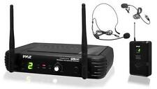 Pyle PDWM1904 2 Mics UHF Wireless Microphone System W/ Selectable Frequency