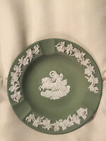 JASPERWARE GREEN WEDGWOOD GREEK GOD CHARIOT HORSE IVY TRIM SMALL DISH PLATE TRAY