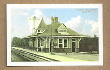 NC DEPOT STATION  TEN  CARDS CAROLINA RAILROAD sanford raleigh monroe liberty