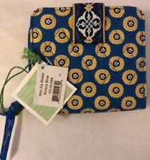 Vera Bradley Retired Riviera Blue Mini Zip Wallet