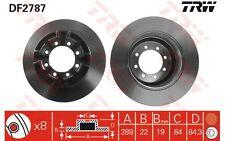 TRW Juego de 2 discos freno 289mm IVECO DAILY DF2787