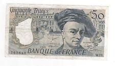 Billet 50 francs Quentin de la Tour, 1981