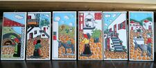 Vintage Set of 6 Tiles - Genre Scenes - H & R Johnson - Greece