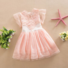 Kids Baby Girls Princess Tutu Dress Lace Party Pageant Bridesmaid Tulle Dresses