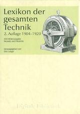 Lexikon der gesamten Technik Otto Lueger DVD Digitale Bibliothek Nr. 116