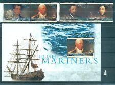 NAVIGATEURS CELEBRES - IRISH MARINERS IRELAND 2003 set+block
