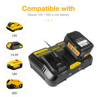 For Dewalt DCB200 DCB115 Lithium-Ion Battery DCB102 12V-20V MAX Dual Charger