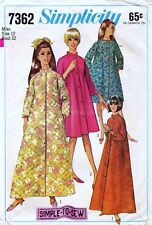 Simplicity 7362 ROBE Vintage 60's Sewing Pattern Size 12