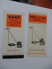 c.1940s KENT Floor Machine Brochure Lot C13 B11 Models Rome NY Vintage Originals