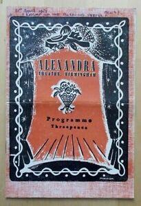 The Knight Of The Burning Pestle programme Birmingham Alexandra Theatre 1951