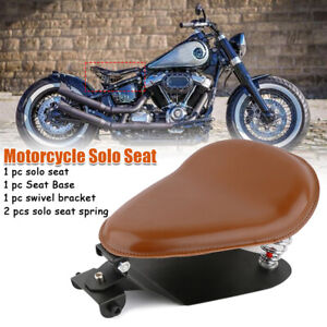 """Motorcycle 3"""" Springs Solo Seat Base Plate Swing Saddle Kit for Harley"""