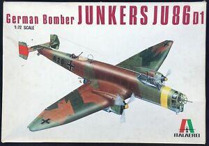 ITALAEREI 1/72 JUNKERS Ju86/D1 UNMADE MODEL ON SPRUES + INSTRUCTIONS & DECALS