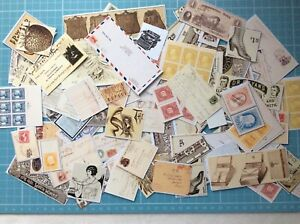 Junk Journal Ephemera Pack 20 Vintage Postcard Stamps Post & Advertising Lot *C