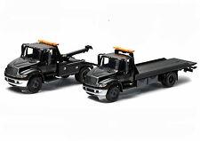 2014 INTERNATIONAL 4400 TOW TRUCK SET OF 2 BLACK BANDIT 1/64 GREENLIGHT 29807-08