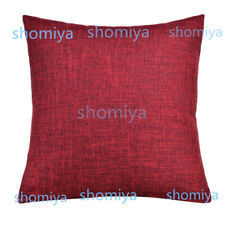 "UK 16"" 18"" 20"" 22"" Large Plain Linen Cushion Cover Pillow Cases Home Decor STOCK"