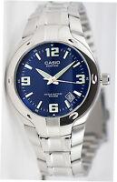 Casio EF-106D-2A Men's Edifice Watch Blue Steel Band 10 Year Battery 100M Date