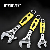 "1 pcs Standard Adjustable Wrench Spanner Set /8""/10""/12"" Heavy Duty Plumber New"