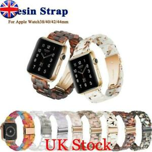 Replacement Watch Resin Band Strap For Apple Watch Series 5/4/3/2/1 38/40/42/44