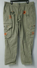 LRG Lifted Research TRUE STRAIGHT CARGO Pants NATIVE AZTEC Embroidered 38x32