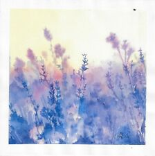 original drawing 20 x 20 cm 61RA art samovar watercolor landscape Signed 2020